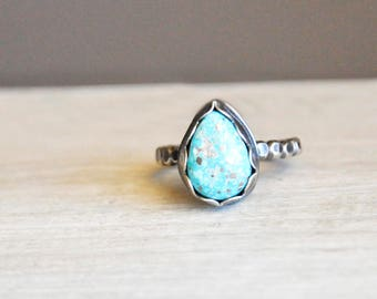 Pyrite + Turquoise Ring / Modern Jewelry