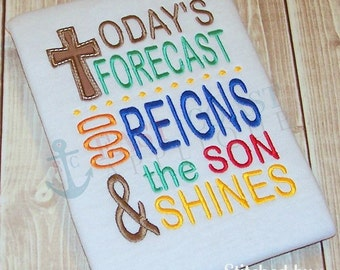 TODAYS FORECAST machine embroidery design