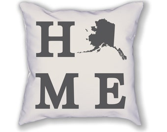 Alaska Home State Pillow