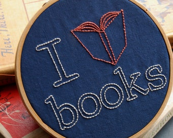 Embroidery Patterns, BOOKSMART Modern Hand Embroidery Patterns, PDF Download, Back to School DIY Dorm Decor Ideas