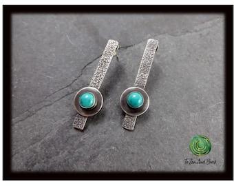 Turquoise Earrings Sterling Silver Earrings Post Earrings Everyday Earrings