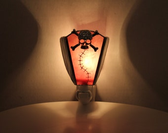 Skull Stained Glass Night Light