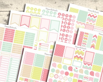 Monthly Kit Printable Planner Stickers, Erin Condren Planner Stickers set, Monthly Planner Stickers, Colorful Stickers 2016