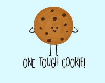 Tough Cookie Postcard