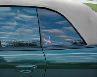 Pregnancy and Infant Loss Awareness Ribbon Vinyl Decal
