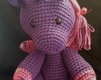 Amigurumi Crocheted Unicorn