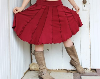 Short Pixie Circle Skirt / Top - Organic Clothing - Many Available Colors