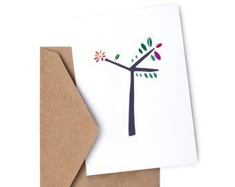 Tree Greetings card