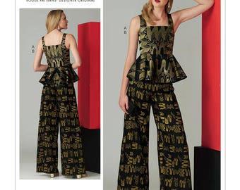 Pants and top sewing pattern Vogue V1572 Designer Zandra Rhodes