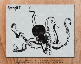 Octopus Stencil- Reusable Craft &DIY Stencils- S1_01_131 -8.5x11- By Stencil1
