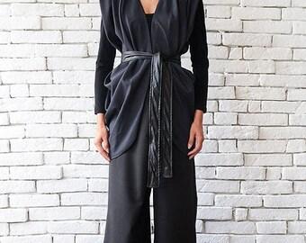 SALE Elegant Grey Vest/Vest with Shoulder Pads/Asymmetric Tunic Top/Casual Women Vest/Sleeveless Coat/Formal Office Top/Loose Grey Tunic Top