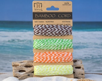 Bamboo Cord, BakersTwine, Party Twine, Gift Wrap,  Bamboo Bakers Twine -CH16