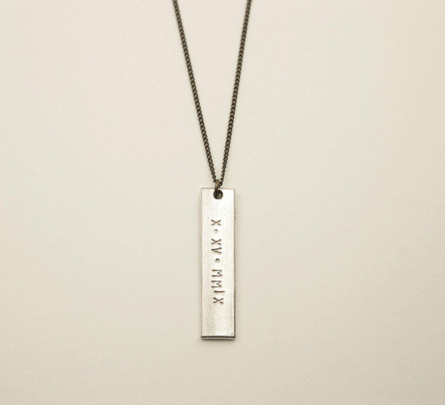 Silver bar necklace customized modern rectangle bar tag zoom aloadofball Image collections
