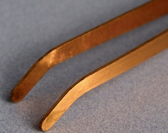 COPPER TONGS Curved for use in Soldering and Pickling- Metal Working Jewelry Tool - TWZ-920.02