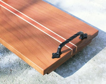 Wood Tray. Wooden Breakfast Tray. Appetizer Platter. Serving Tray With Handles. Home décor