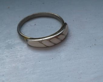 Vintage gold and pink ring