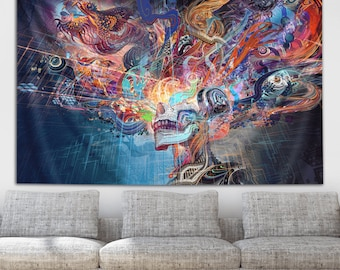 Forward Escape Tapestry by Android Jones