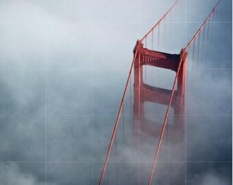 San Francisco Golden Gate Bridge Mural | Mureus