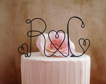 Initials Wedding Cake Topper, Monogram Rustic Wedding Cake Decoration, Wedding Decoration, Rustic Wedding Centerpiece, Engagement Party