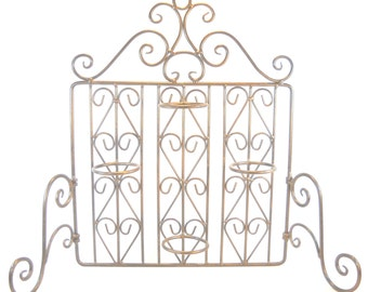 Wrought Iron Standing  or Wall Mount Votive Candle Holder
