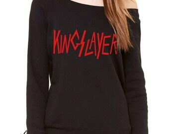 Kingslayer GoT Slouchy Off Shoulder Oversized Sweatshirt