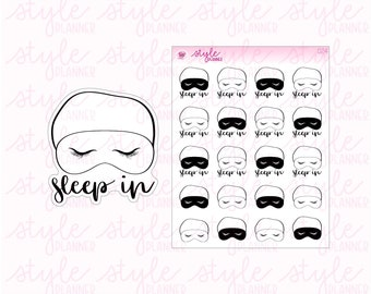 Sleep In | Eye Mask | Nap Time | Original Hand Drawn Planner Stickers | Erin Condren | Happy Planner | Travelers Notebook