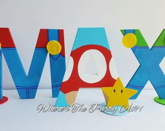 Super Mario Inspired Name Letters