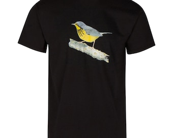Canada Warbler Shirt;bird graphic shirts;warbler;bird shirts;Custom Nature Design;birder;bird watching;bird apparel;gifts for birders;birds