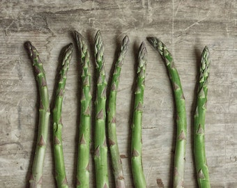 Rustic Dining Room Art, Food Photography, Vegetable Print, Farmhouse Kitchen Wall Art |'Asparagus'