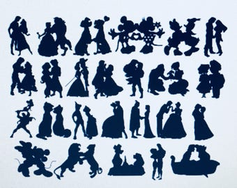 50 x Disney Couple Inspired Silhouette Confetti - Great for Weddings & Celebrations