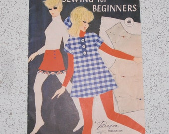 sewing for beginners...1960s vintage instruction booklet
