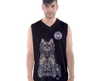 Dire Wolf, (All over print) mens BTank