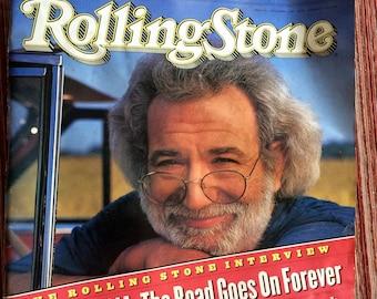 Jerry Garcia,Grateful Dead,Deadhead,Hard Rock,Grateful Dead Collectible,Rolling Stone Magazine,90s Magazine,Issue 664,Jerry Garcia Art