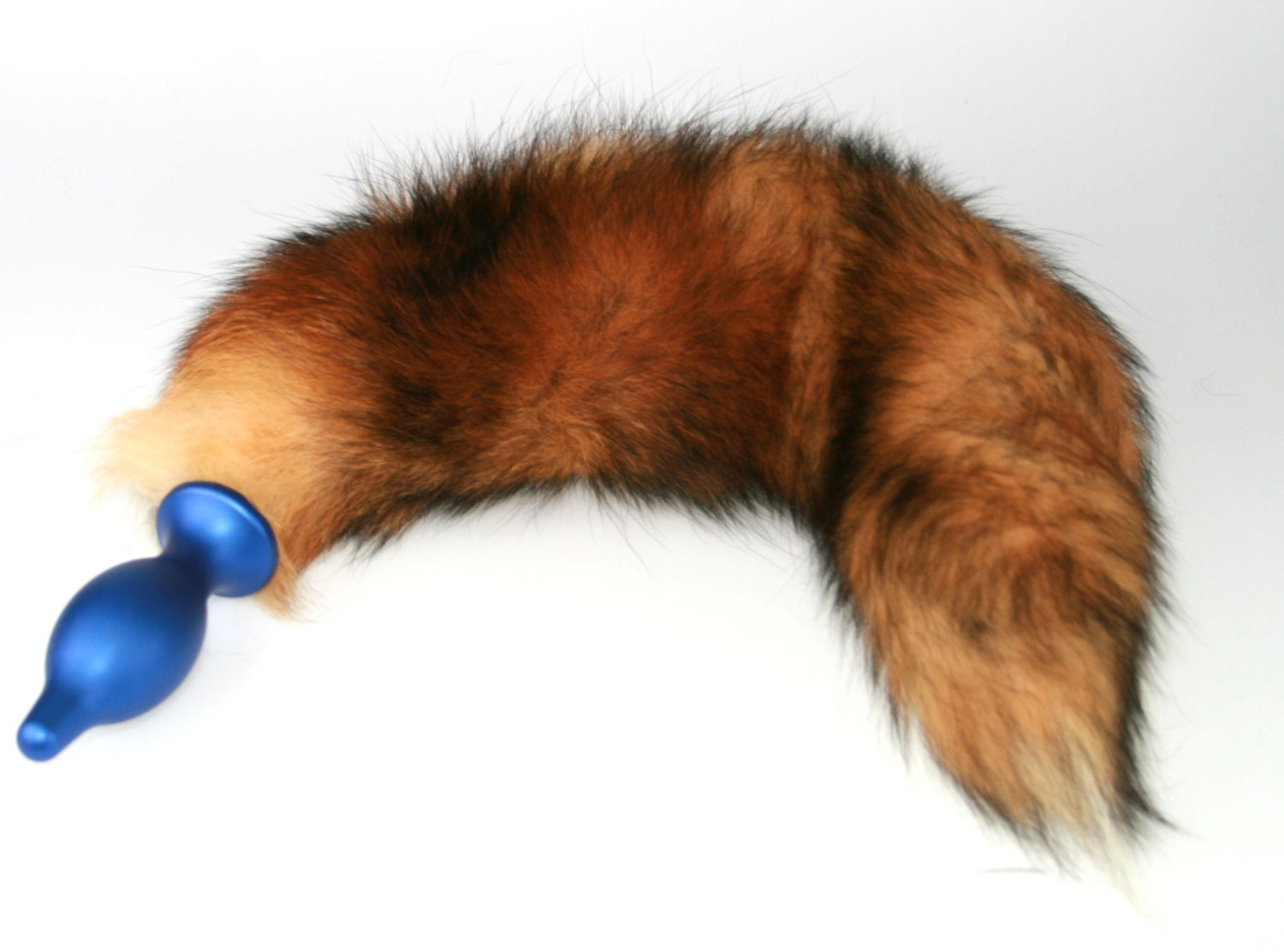 13 Detachable Red Fox Tail Butt Plug Real Fur Heavy-8881
