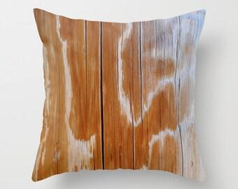 Photo Pillow Cover Decorative Woodgrain Pillow Rustic Pillow Tree Pillow