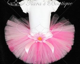 Pink Tutu for Girls, Pink Powder Puff, Custom Sewn Tutu