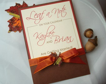 SEASONS OF LOVE Autumn Pocket Wedding Save the Date - Sample