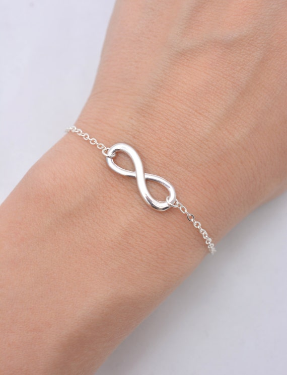 Sterling Silver Infinity Bracelet 9KtK7lf