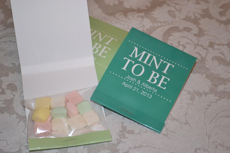 50 Custom Large Mint To Be Wedding Matchbook
