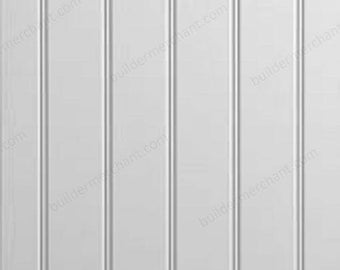 Tongue & Groove MDF Wall Panels Grooved Butt  Bead MDF  Primed Bath Panel