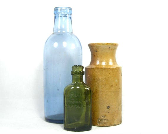 Antique Glass and Stoneware Bottle Collection by Daulton Lambeth