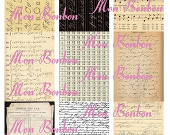 Digital Download ATC Vintage Paper Background Images - INSTANT DOWNLOAD