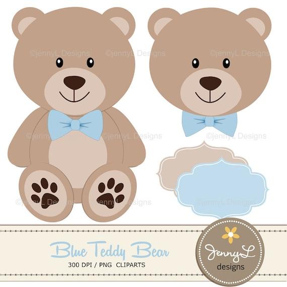 50 Off Blue Teddy Bear Digital Papers Teddy Bear Clipart
