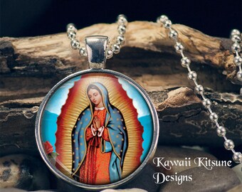 Blessed Virgin Mary, Our Lady of Guadalupe, Catholic Jewelry, Virgin of Guadalupe, Virgen de Guadalupe, Nuestra Señora de Guadalupe