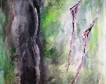Sombras-Shade, acrylic on cardboard, 30 x 40 cm, abstract