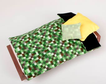 Grass Block Doll Bed