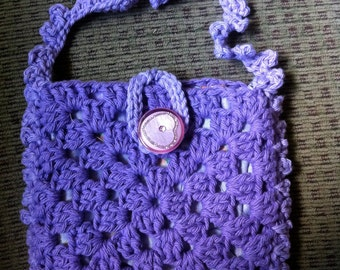 Crocheted Granny Square Purse #131