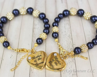 Mother of the Bride Gift Mother of the Groom Gold Mother of the Bride Bracelet Gold Bracelet MOB MOG Charm Bracelet Gold MOB Mother in Law