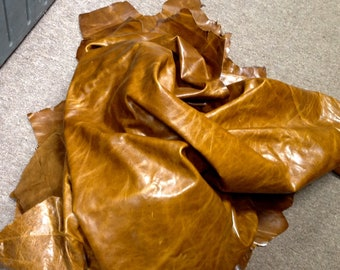 AB208.  Western Saddle Brown Pull-Uo Leather Cowhide