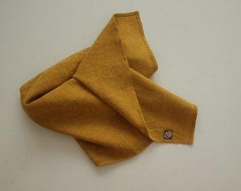 "Large Linen Napkins, Cloth Napkins, Dinner Napkins, 18"" x 18"", set of 4, natural/linen/embroidery texture."